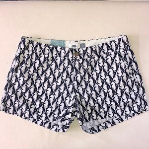NWT Seahorse navy &white print shorts